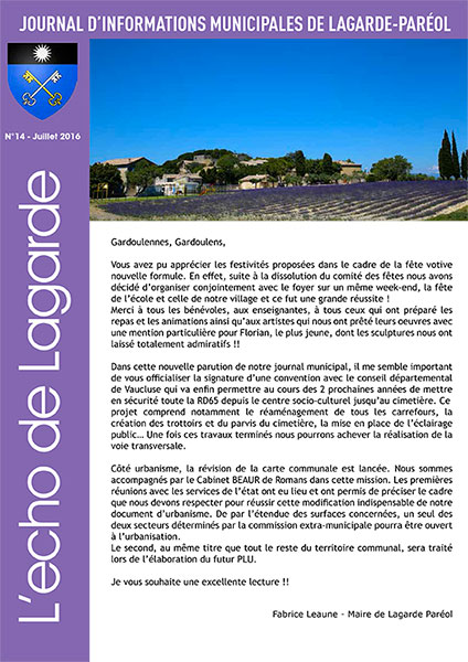 journal lagarde pareol juillet 2016
